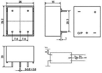 hv25-p霍尔电压传感器接线图